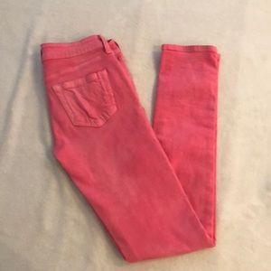 Vans pink skinny jeans